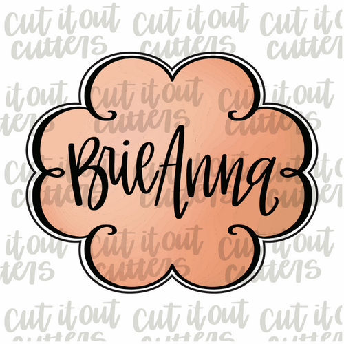 Brie Anna Plaque Cookie Cutter