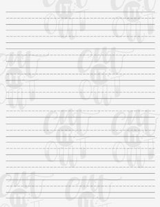 Blank Hand Lettering Sheet & CIO Print and Script Brushes