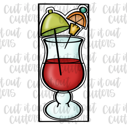 Build A Cocktail 12x5 Cookie Cutter Set
