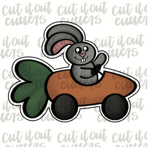 Bunny In Carrot Car Cookie Cutter