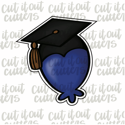 Grad Balloon Cookie Cutter