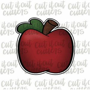 Chubby Teacher Apple Cookie Cutter