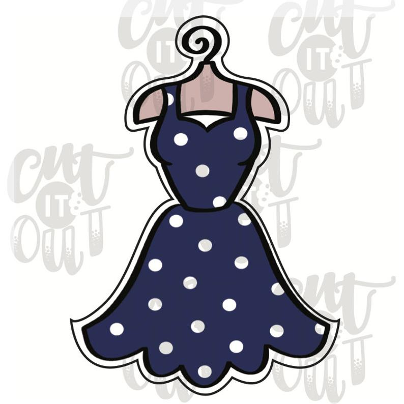 Fancy Hanging Dress Cookie Cutter