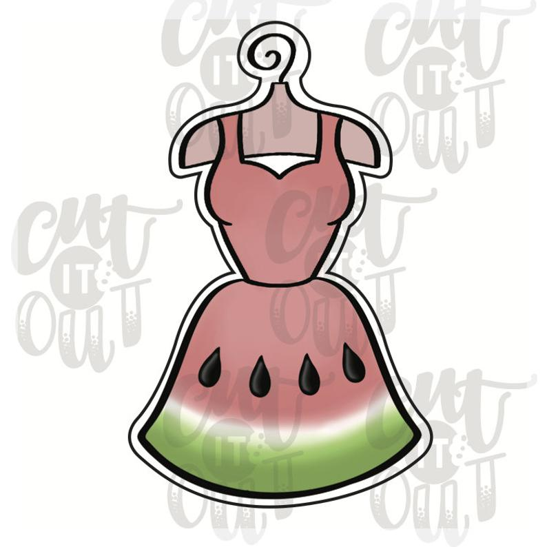 Hanging Dress Cookie Cutter