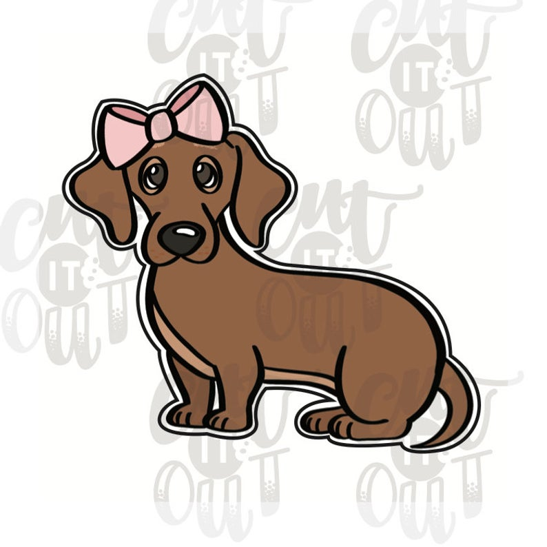 Girl Dachshund Cookie Cutter