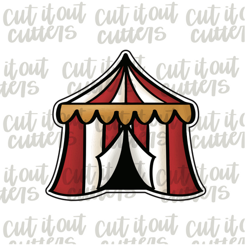 Circus Tent Cookie Cutter