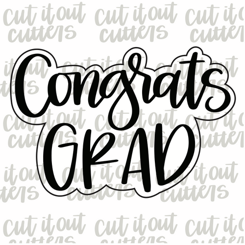 Congrats Grad Cookie Cutter