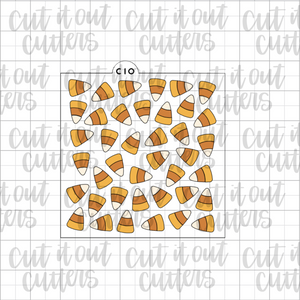 Scattered Candy Corn Cookie Stencil (3 Piece)
