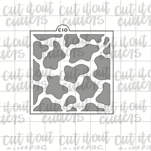 Cow Print Cookie Stencil