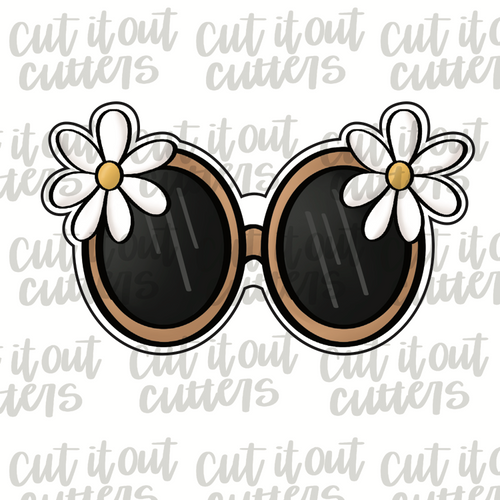 Daisy Glasses Cookie Cutter