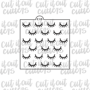 Eyelashes Cookie Stencil