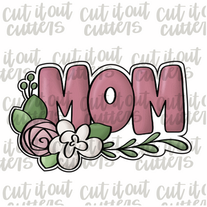 Floral Mom Print Cookie Cutter