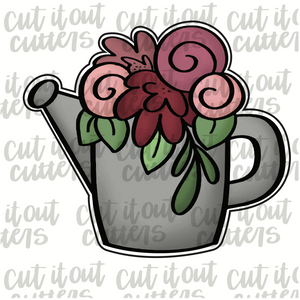 Floral Watering Can Cookie Cutter
