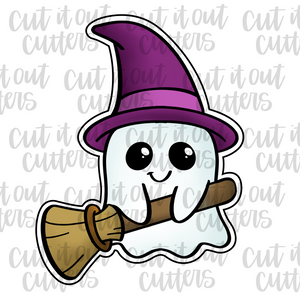 Ghost and Broom Cookie Cutter