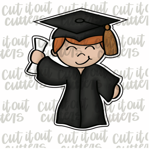 Grad Boy Cookie Cutter