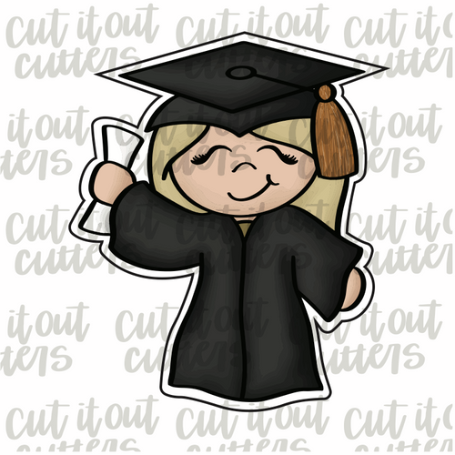 Grad Girl Cookie Cutter