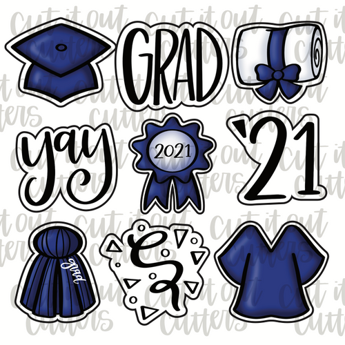 Grad Minis Cookie Cutter Set