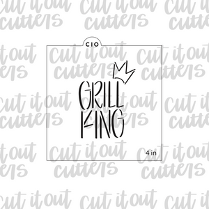 Grill King Cookie Stencil