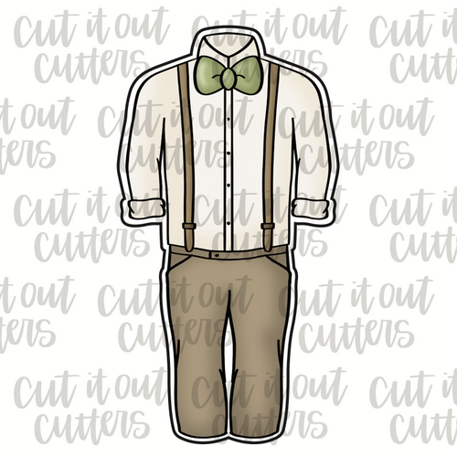 Groomsman Outfit Cookie Cutter