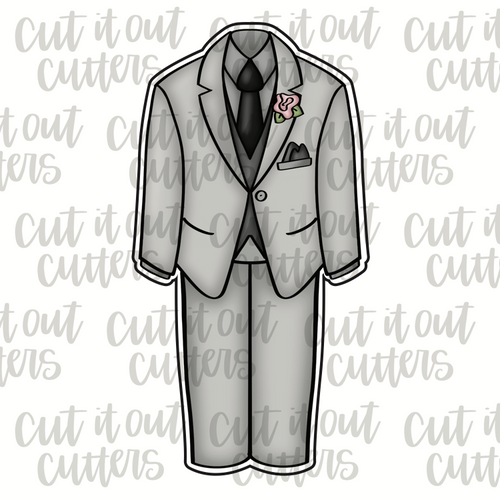 Grooms Outfit Cookie Cutter
