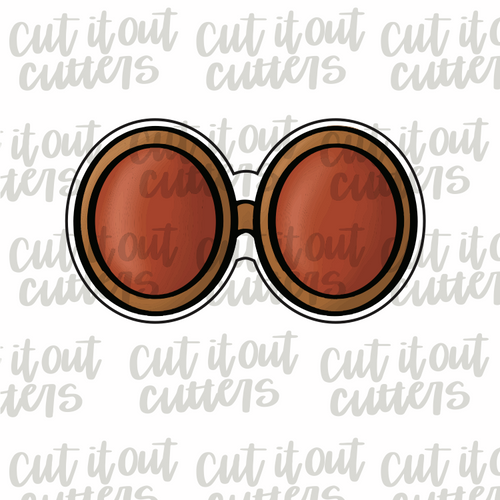 Groovy Glasses Cookie Cutter