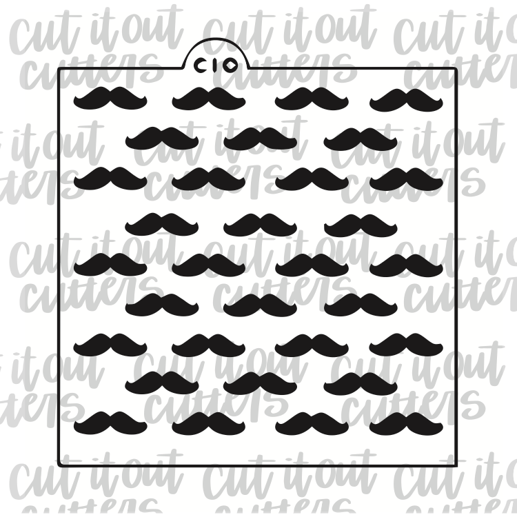 Hipster Stache Cookie Stencil