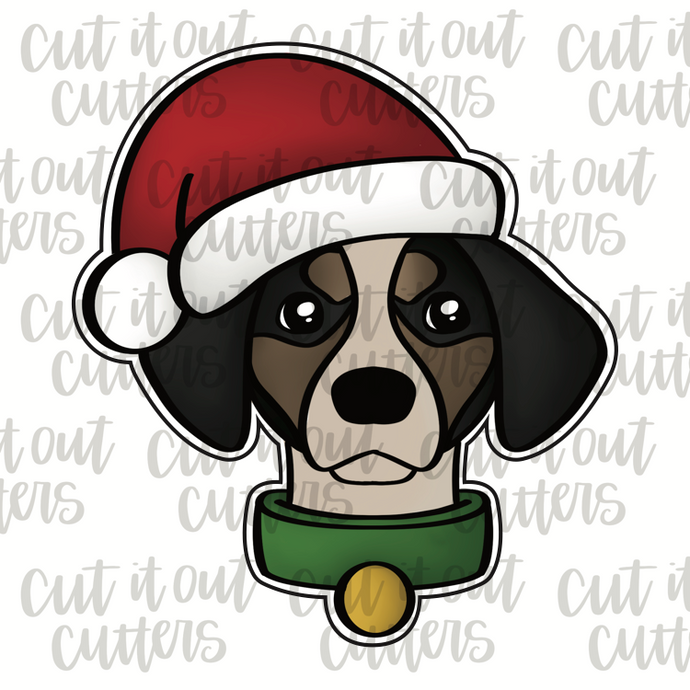 Tucker In A Santa Hat Cookie Cutter