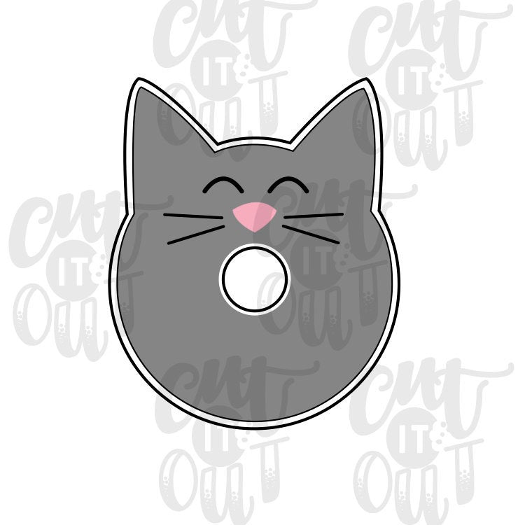 Donut Cat Cookie Cutter