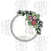 Load image into Gallery viewer, Floral Circle Cookie Cutter