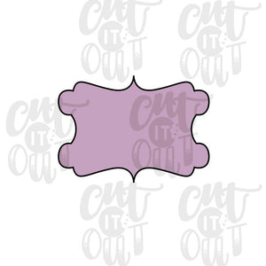Classy Plaque Cookie Cutter
