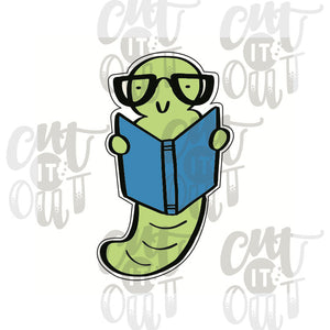 Bookworm Cookie Cutter