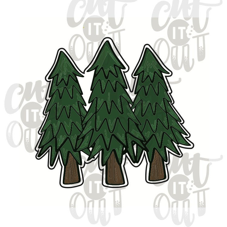 Pine Trees Cookie Cutter