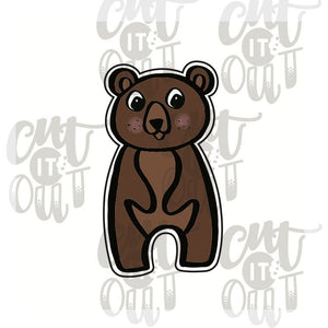 Standing Bear Cookie Cutter