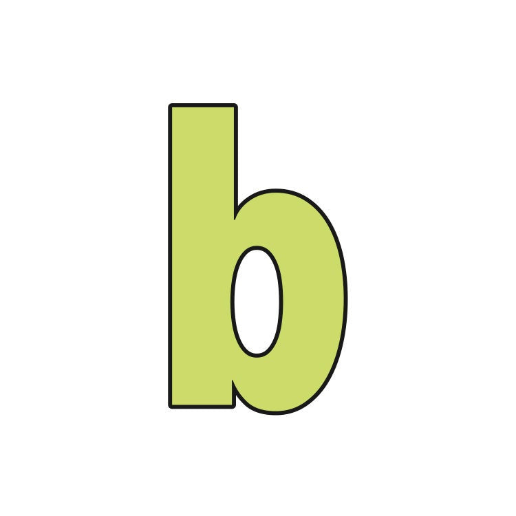 Block Letter Lowercase b Cookie Cutter