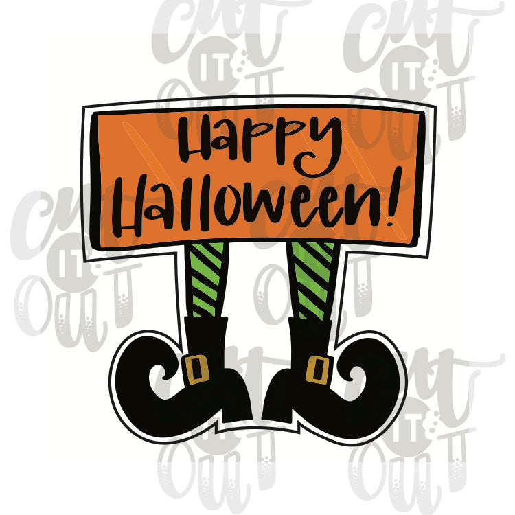 Witchy Legs Plaque Cookie Cutter