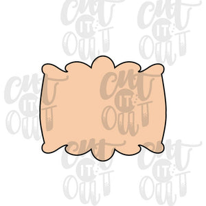 Stretched Peachy Plaque Cookie Cutter