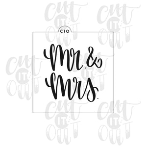 Mr. & Mrs. 2 Cookie Stencil