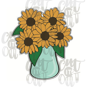 Sunflowers in Vase Cookie Cutter