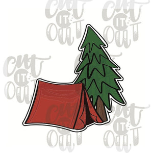 Tent & Tree Cookie Cutter