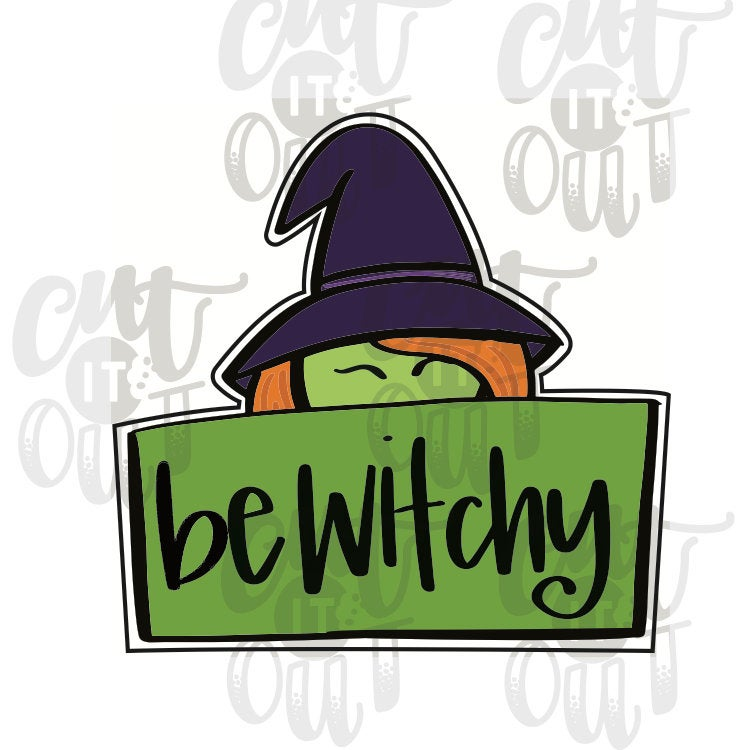 Witchy Plaque Cookie Cutter
