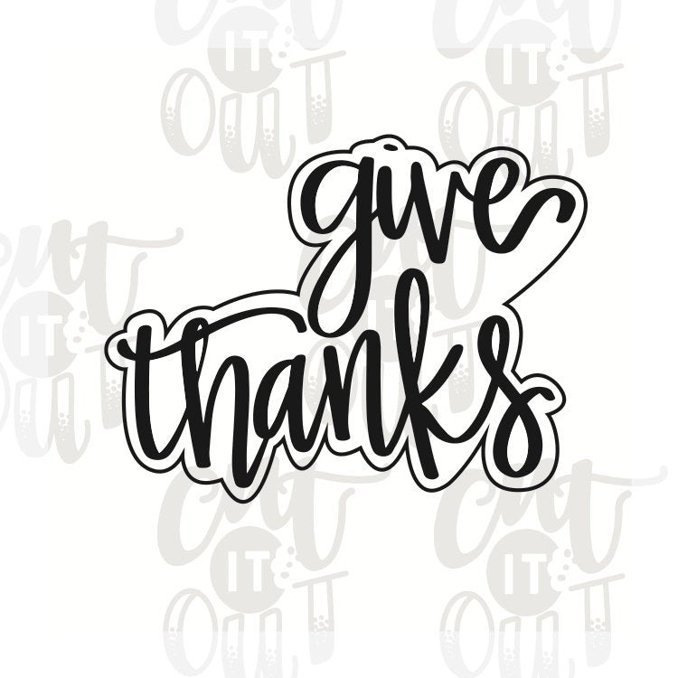 Give Thanks Cookie Cutter
