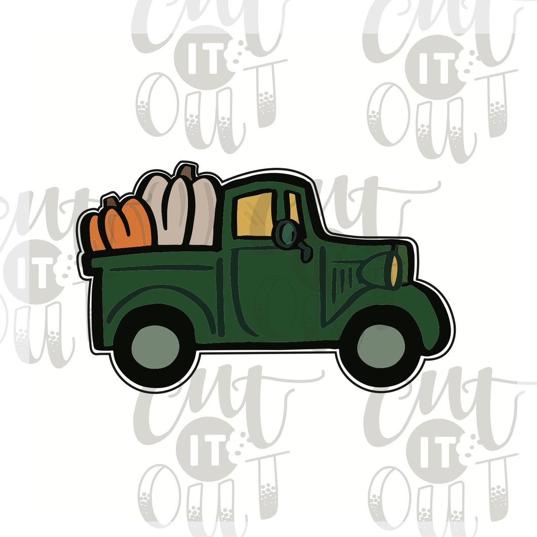 Pick Up Truck with Pumpkins Cookie Cutter