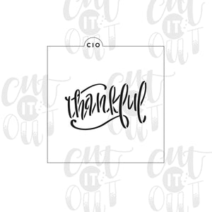 Thankful Cookie Stencil
