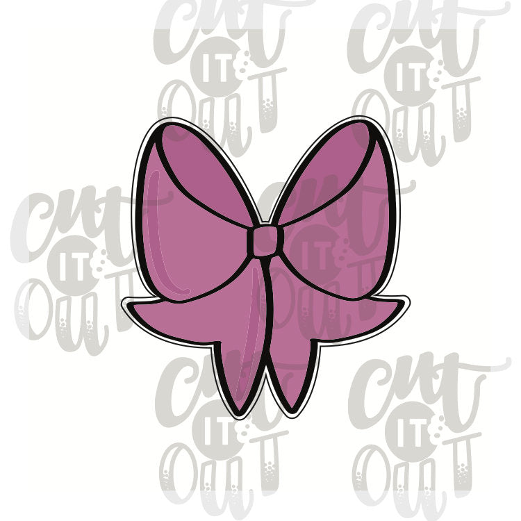 Miss Doughmestic Girly Bow Cookie Cutter
