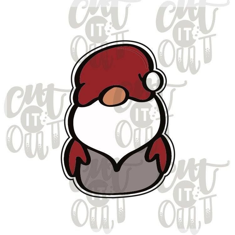 Gnome Santa Cookie Cutter