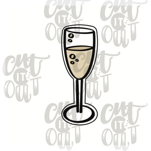 Champagne Flute Cookie Cutter