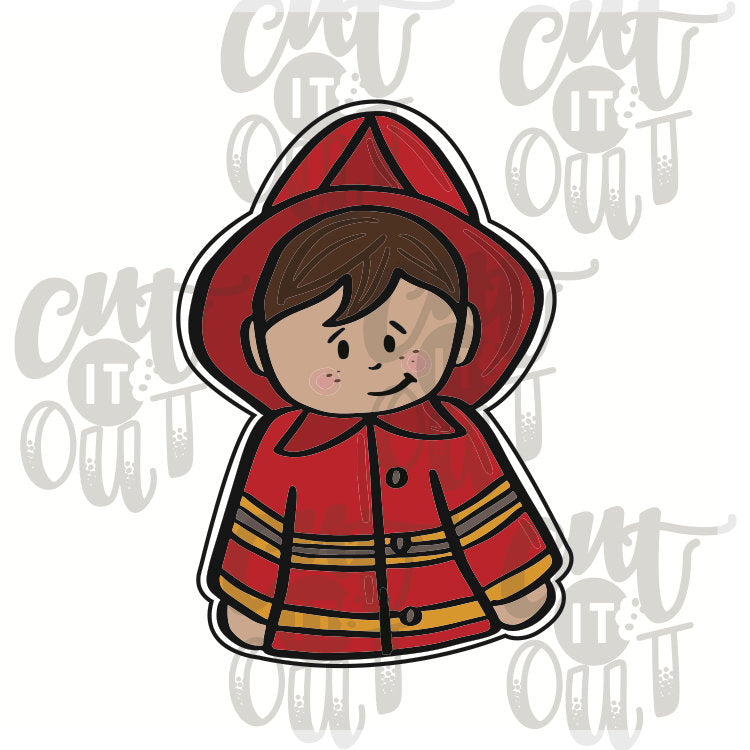 Miss Doughmestic Boy Firefighter Cookie Cutter