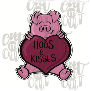 Hogs and Kisses Cookie Cutter