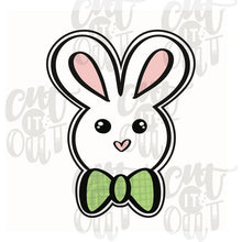Load image into Gallery viewer, Bunny with Bowtie Cookie Cutter