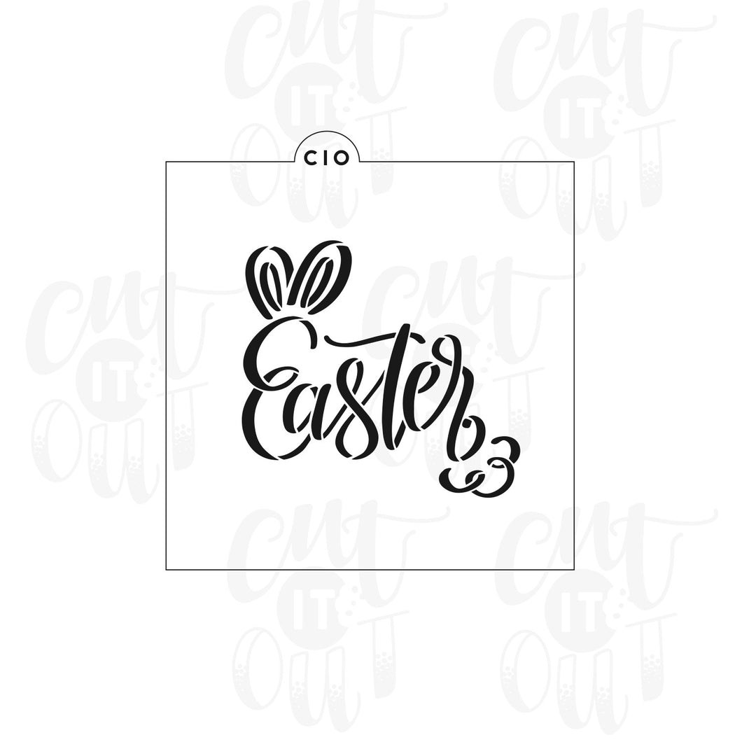Easter with Bunny Ears & Tail Cookie Stencil